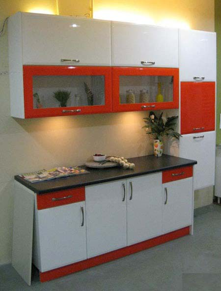Dry Kitchen With Red And White Kitchen Cabinet Part 56