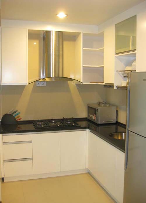 Small Kitchen - L-Shaped Kitchen Cabinet