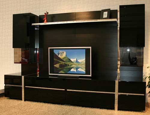 Black Colour TV Cabinet