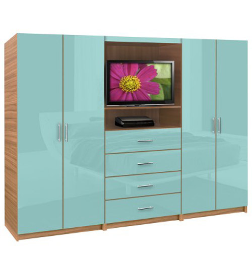 Wardrobe with TV Stand