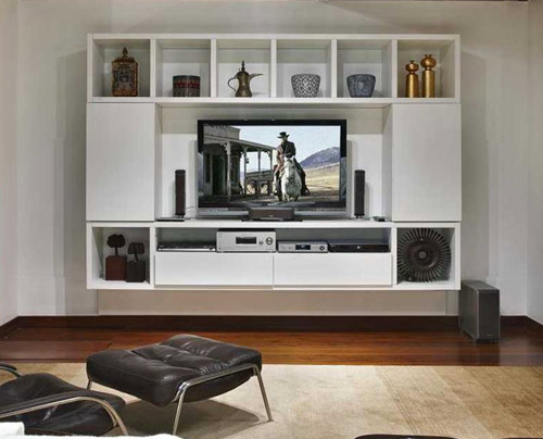 Tv Stand Designs In Hall : White colour tv cabinet